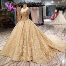 AIJINGYU فساتين زفاف دانتيل قصيرة علوية غرب تركيا لبنان الفيكتوري الأبيض الأميرة فستان الزفاف