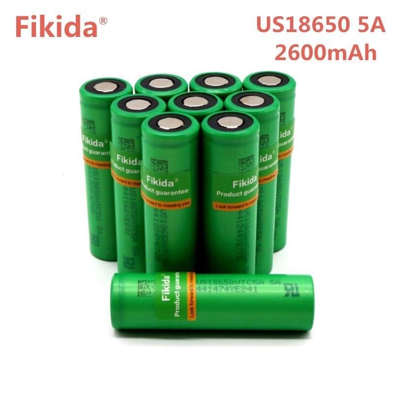 Nuovo Fikida Originale 40A di Scarico 3.6 v 18650 Batteria US18650 VTC5A 2600 mah batteria Ad Alta Scarico 40A Batteria Per Sony per e-sigaretta
