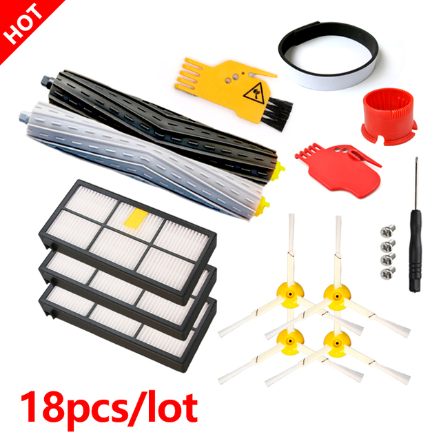 Brush+Filter Convenience Sets for iRobot Roomba 800 Series 860 865 866 870 880 885 886 890 900 960 966 980 Robot Vacuum Cleaner
