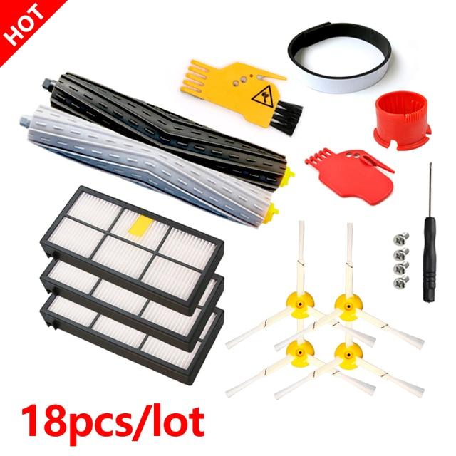 Ensembles Brosse+Filtre pour iRobot Roomba 800 Series 860 865 866 870 880 885 886 890 900 960 966 980 Robot Aspirateur