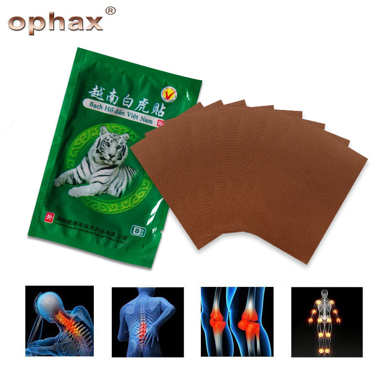 OPHAX 80pcs Vietnam White Tiger Balm Pain Relieving Patch Medical Plasters For Muscle Neck Shoulder Joint Back Pain Patch Relief