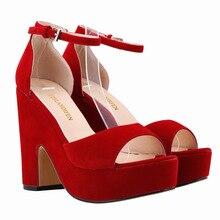 Sexy peep toe platz high heels party büro schuhe wildleder frauen plattform pumpen 9 farben damen arbeiten schuhe mujer
