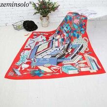 Здесь можно купить   130*130cm Square Large Size Scarf Pashmina Ladies 100% Twill Silk Scarves Bandana Luxury Brand Silk Women