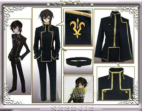 NEW Anime Code Geass Lelouch Lamperouge Cosplay Academy Uniform Custom Made Free Shipping