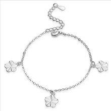 Everoyal Trendy 925 Sterling Silver Bracelets For Women Jewelry Fashion Flower Lady Accessories Girlfriend