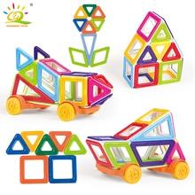 40 шт. магнитные блоки Строительный набор для детей DIY 3D Пластиковые Магнитные плитки кирпичи развивающие строительные игрушки для детей
