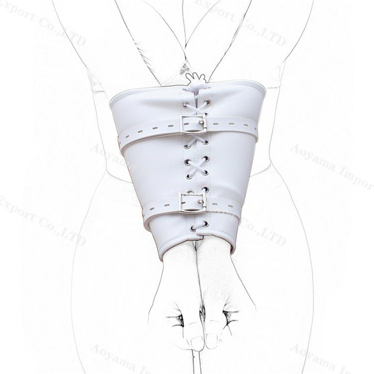 Arm Rearward Restraints Bondage Belt Genuine Leather Harness Arm Cuffs Sex Toys For Men and Women