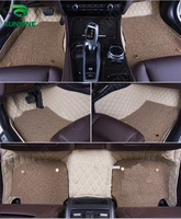 3D Car Floor Mat for VW Touareg foot mat car foot pad with One Layer Thermosol coil Pad Left hand driver car styling liners