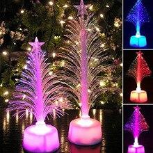 Светодиодный светильник для рождественской елки, меняющий цвет, мини-светильник для рождественской елки, домашний стол, вечерние настольные лампы, настольный ночник