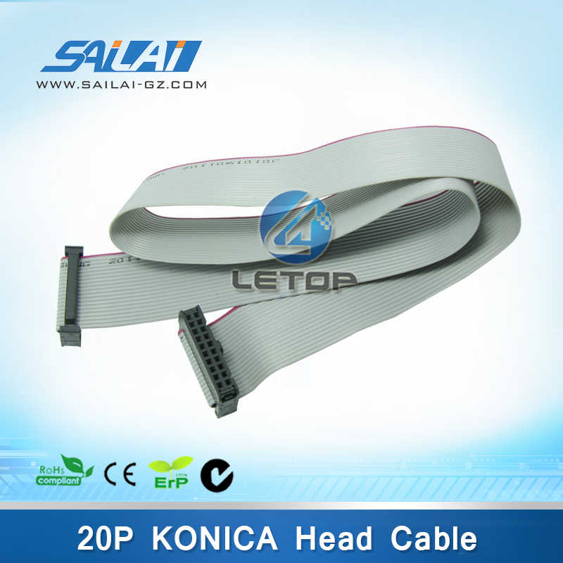 Printer Pelarut Kabel Print Head 20Pin Kabel Flat untuk Konica Kepala