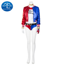 MANLUYUNXIAO New Chic Suicide Squad Harley Quinn Costume Deluxe Outfit Halloween Carnival Cosplay Costumes for Women Custom Made