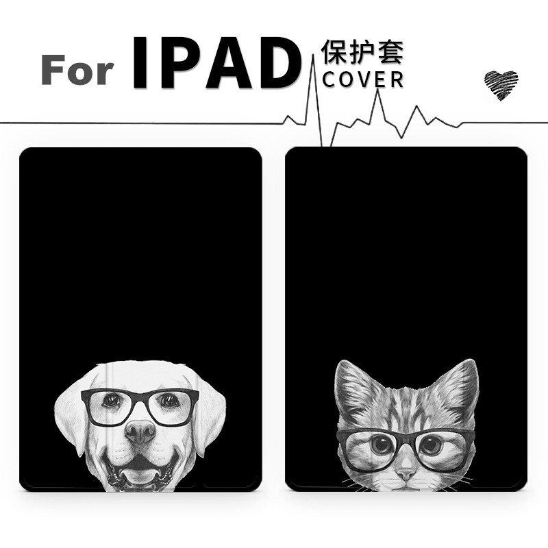 Cartoon Cat Dog Magnet PU Leather Case Flip Cover For iPad Pro 9.7 10.5 Air Air2 Mini 1 2 3 4 Tablet Case For New ipad 9.7 2017 veterinary and human 2 14g dl 1 000 1 060 ri dog 1 000 1 060 ri cat clinical dog and cats refractometer rhc 300atc