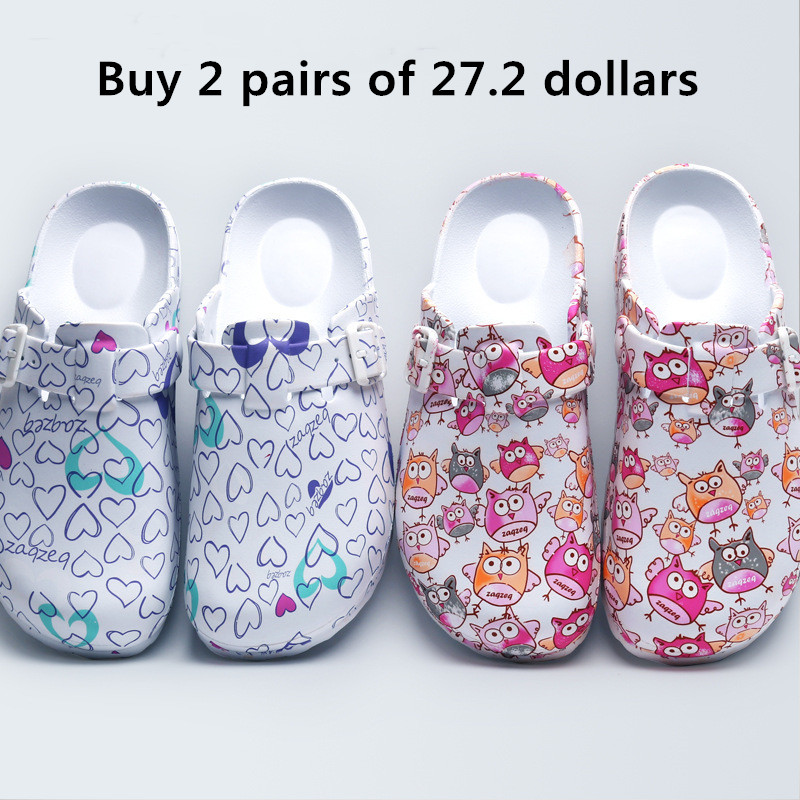 Lizeruee Wholesale Nursing Clogs Hospital Surgical Medical Anti-slip Slippers Cartoon Workwear Cleaning Shoes Lab SPA Slippers 1