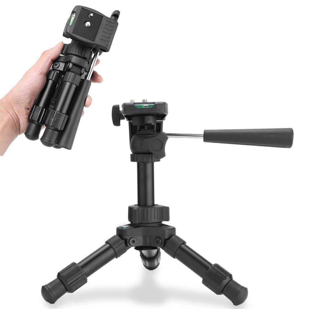 Image 2 - Mini Table Tripod Camera Aluminum Stable Tabletop Desktop Panoramic Portable With Three dimensional Tripods Ball Head for Canon-in Live Tripods from Consumer Electronics