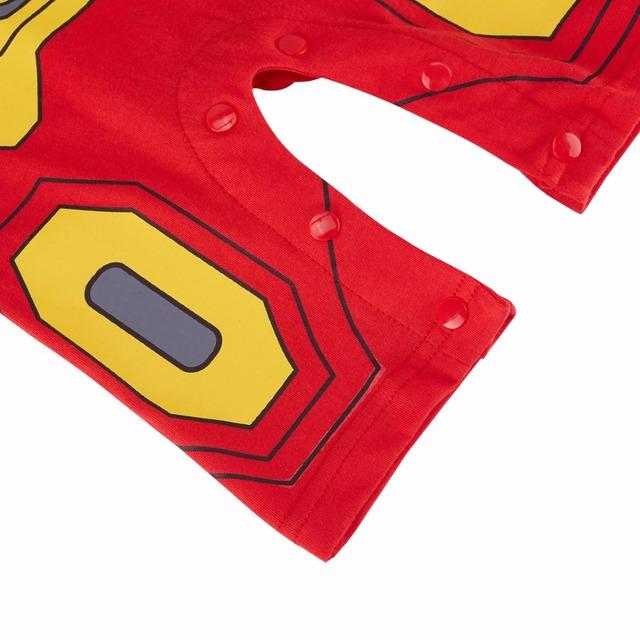 Bébé Garçon Iron Man Costume Barboteuse Manches Courtes 0-24 Mois Super-Héros Salopette