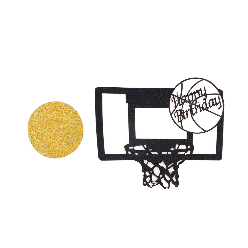 Wedding & Anniversary Bands 1pc Happy Birthday Basketball Cupcake Cake Toppers Art Door Cake Flags Kids Birthday Party Baby Shower Wedding Baking Decor Complete In Specifications