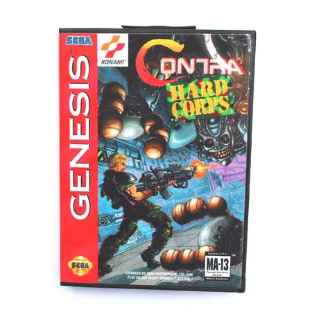 16 bit Sega MD game Cartridge with Retail box - Contra The Hard Corps game card for Megadrive Genesis system