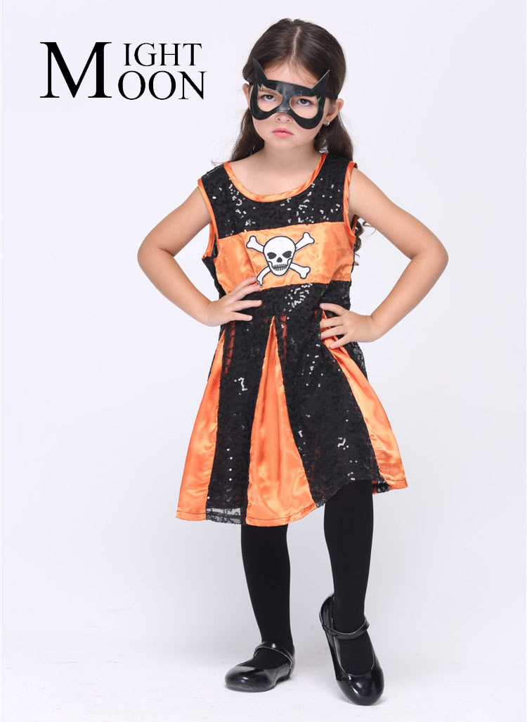 MOONIGHT Girl Bat Costumes Cosplay Halloween Stage Performance Child Costumes Vestido Tutu Dress Kids Carnival Party Outfit