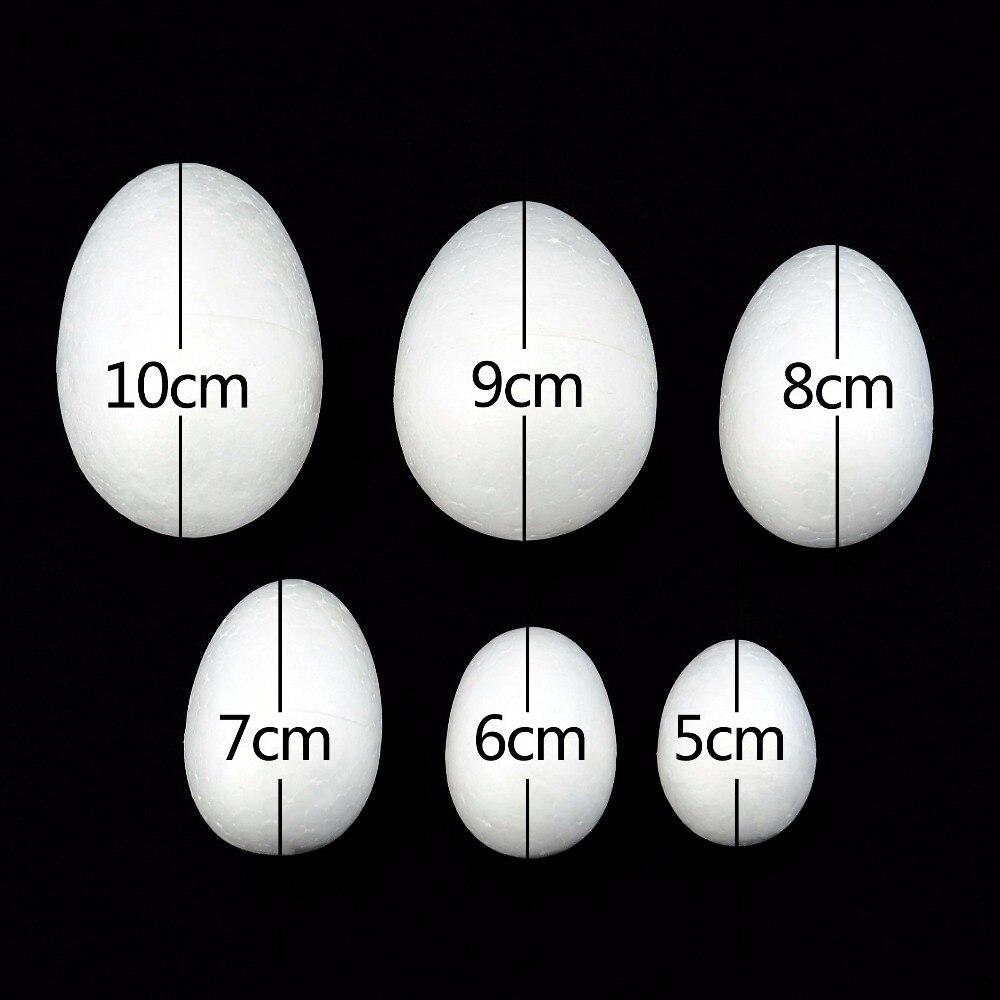 15PCS/10CM-5CM Modelling Polystyrene Styrofoam Foam Egg Ball White Craft Balls For DIY Christmas Party Decoration Supplies Gifts