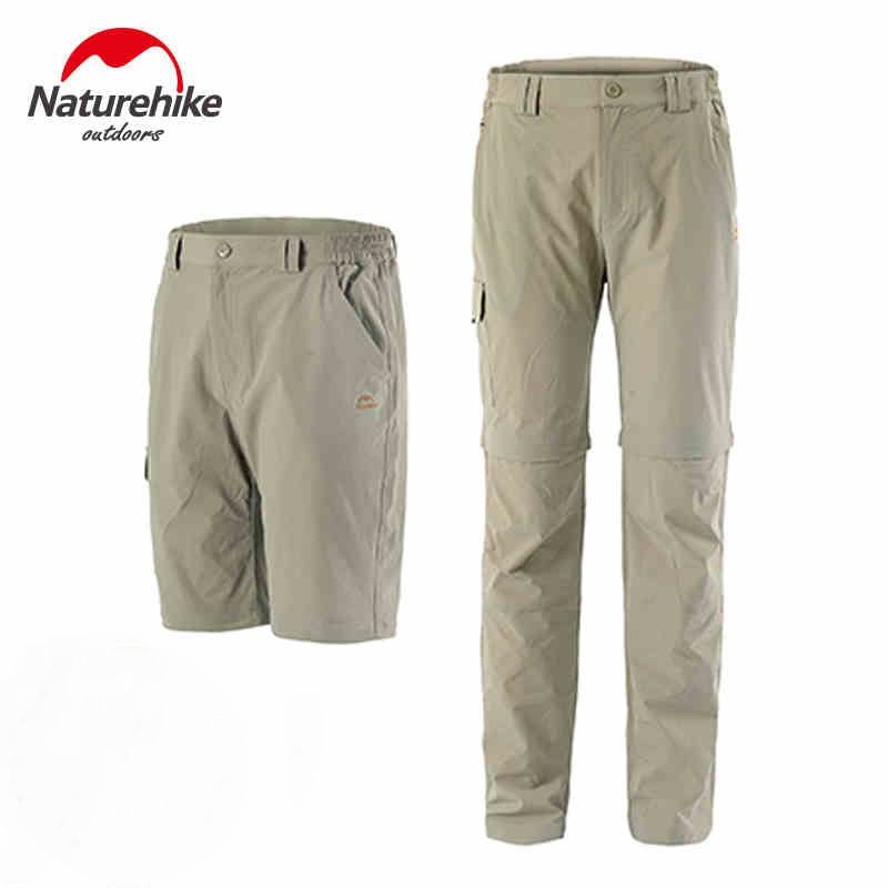 Outdoor Men's&Women's Quick-Drying Removable Elastic Pants Unisex Slim Large Size Thin Trousers Summer Hiking Running S-XXXL