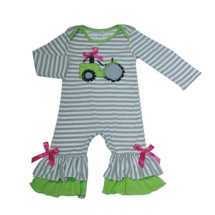 d252ececc Buy New Fashion Baby Romper Girls Boutique Clothes Newborn Tractor ...