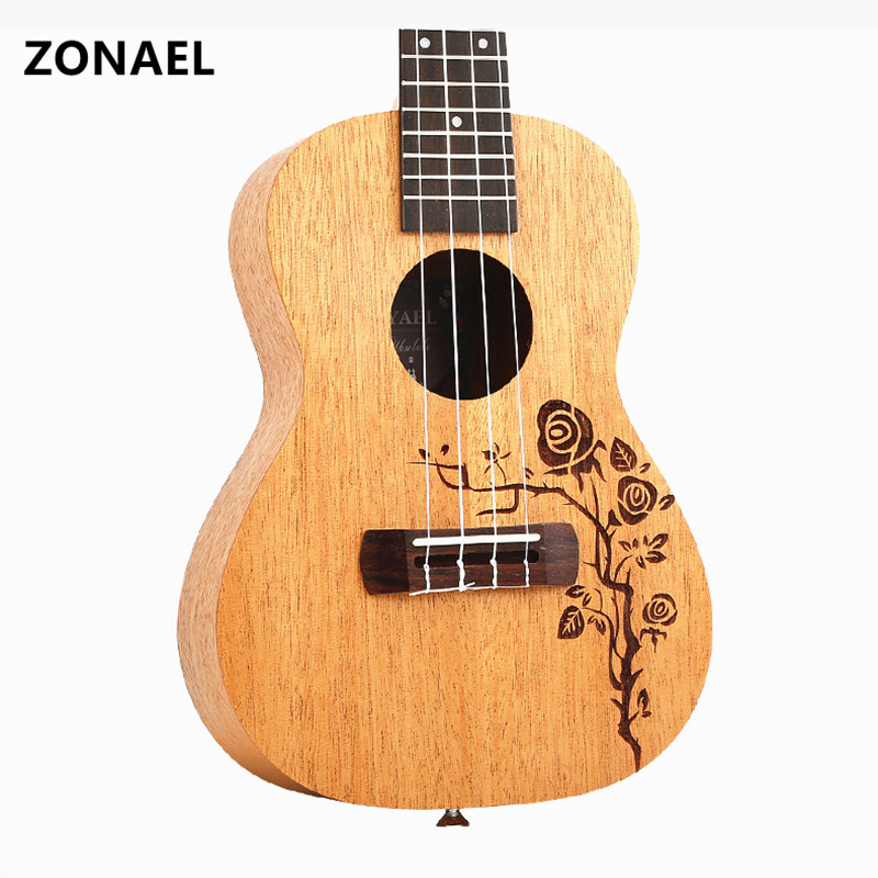 23 Ukulele Guitar Acoustic Ukelele Spruce 4 Strings Guitar Ukulele 23 Musical Stringed Instrument y06-23 hlby good deal 17 mini ukelele ukulele spruce sapele top rosewood fretboard stringed instrument 4 strings with gig bag 2