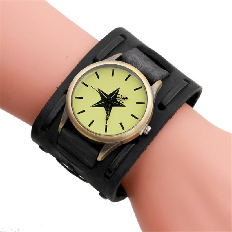Dress Watches Clock Bangle Bracelet Braided Vintage Fashion Women NEW Wide Retro