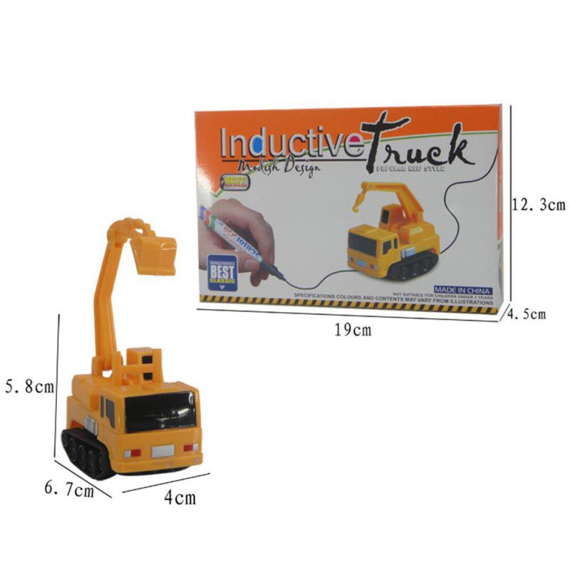 18 Inductive Car Line Follower Diecast Toys Trucks Vehicle Magic Pen Toy Tank Excavator Construt Follow Any Line You Draw 14