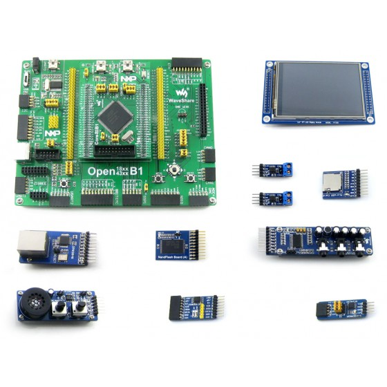 Open4337-C Package B # LPC ARM Cortex M4 M0 dual-core LPC4337JBD144 Development Board + 3.2inch Touch LCD + 10 Modules black plastic ads iar stm32 jtag interface jlink v8 debugger arm arm7 emulator cortex m4 m0