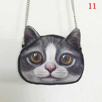 3D Animal Printing women Shoulder Bags cute cat face crossbody bags for women purses and handbags small women messenger bags