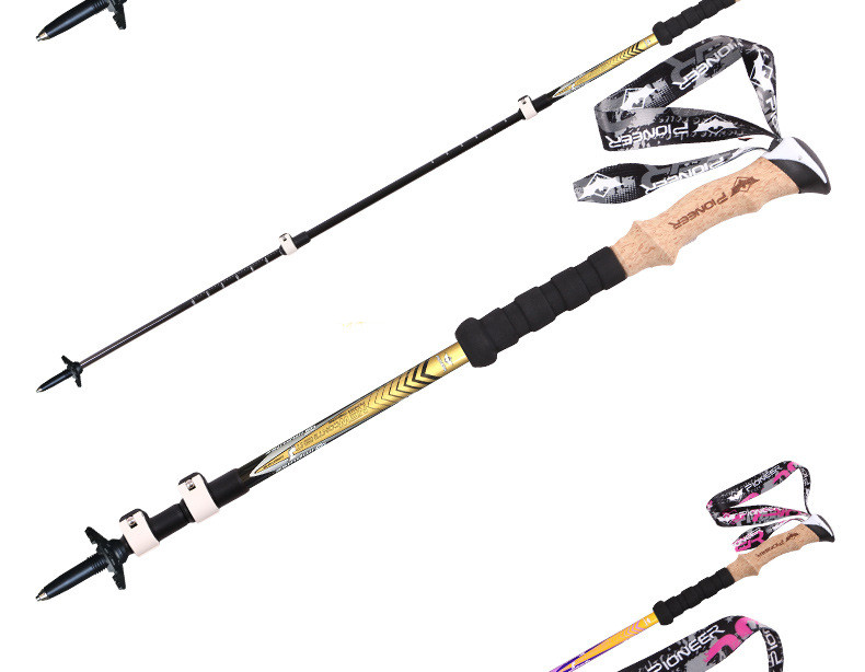 esportes de fibra carbono escalada bengala ultraleve trekking ski pole bengala k5