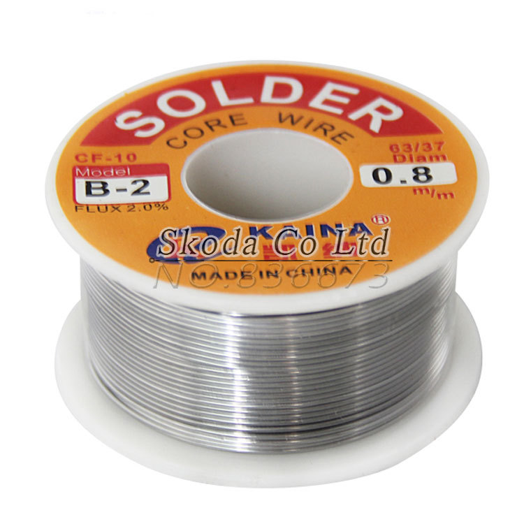 2pcs 0.8mm 100g Tin Lead Melt Rosin Core Solder Wire Soldering Wire Reel, freeshipping