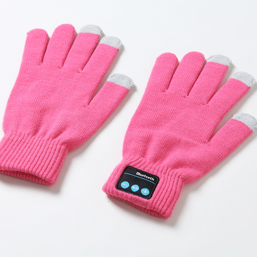 Warm For Cellphone Useful Knit Outdoor Bluetooth Gloves Gloves Autumn Winter Windproof Built-in Speaker/Microphone