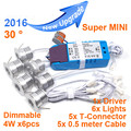 2016 NEW Super bright MINI 4W x6pcs/set 24W D35*H28mm Dimmable LED Spotlight LED Cabinet Light Recessed MINI03A-4W6D