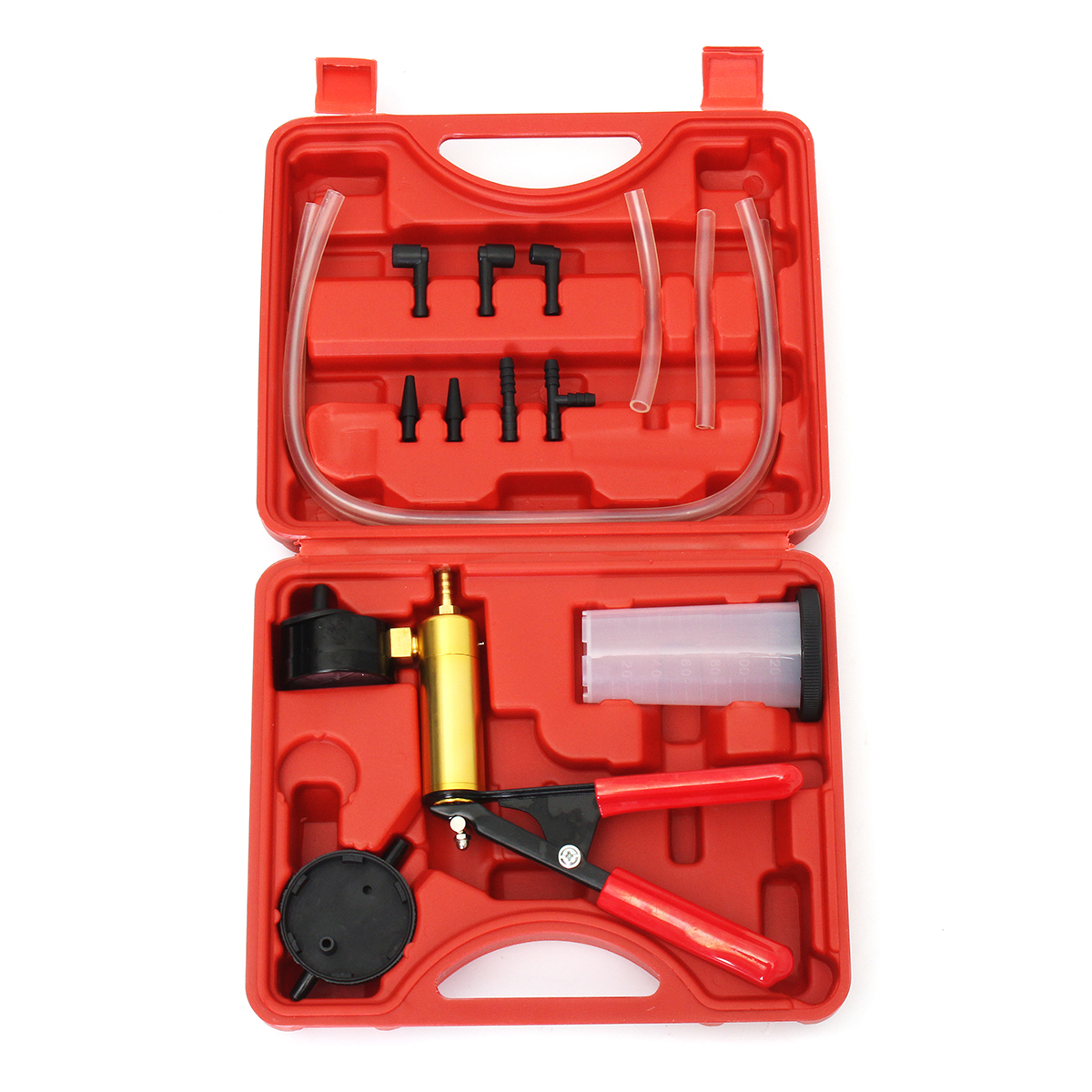 2 in 1 Brake Fluid Bleeder Change Hand Held Vacuum Pistol Pump Tester Kit vacuum pump inlet filters f006 1 rc2 1 2
