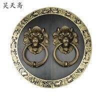 [Хаотянь вегетарианские] Китайский античный дверной молоток медное кольцо меди зверь ручка дверная ручка HTA 091