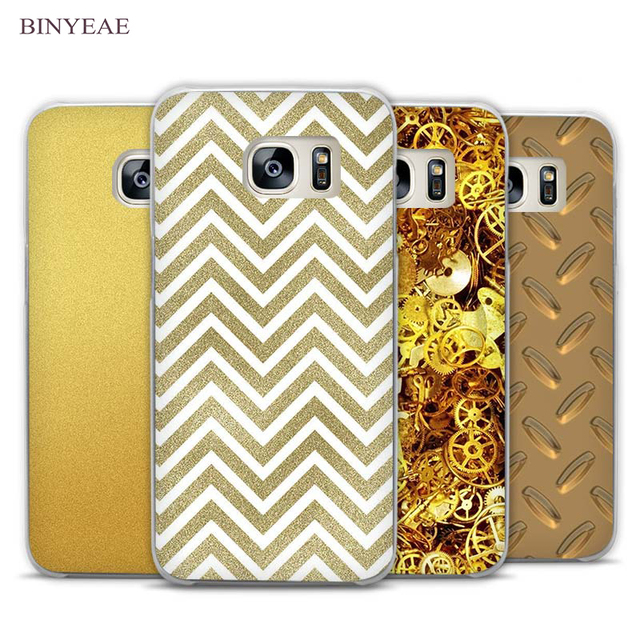 best service dd9de 376d1 US $1.97 34% OFF|BINYEAE Champagne Gold Clear Phone Case Cover for Samsung  Galaxy Note 2 3 4 5 7 S3 S4 S5 Mini S6 S7 S8 Edge Plus-in Half-wrapped Case  ...