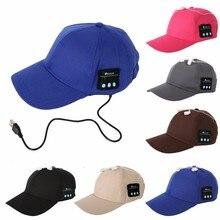 Wireless Bluetooth Smart Cap Headset Headphone Speaker Mic man woman Spring Summer Casual cotton Sports cap