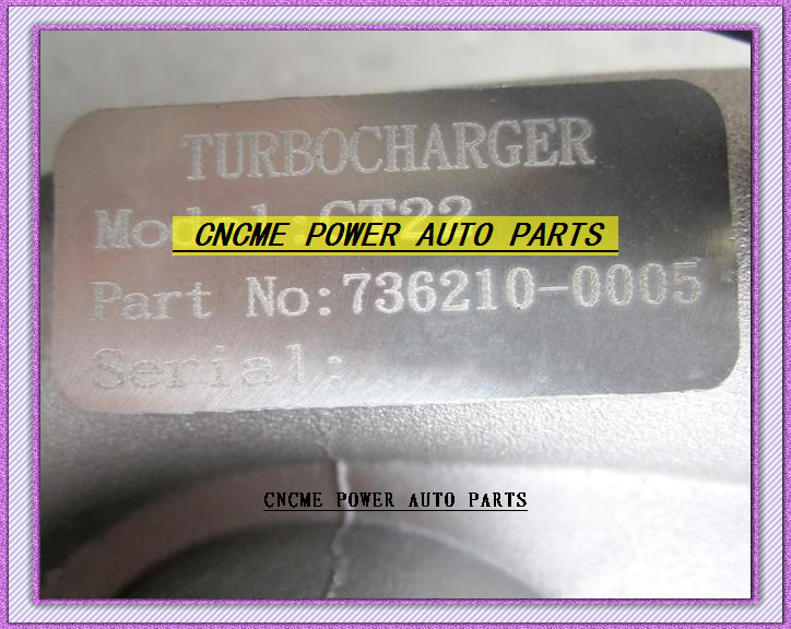 TURBO GT22 736210-5005 736210-0005 36210 ветер масло охлажденный Турбокомпрессор для JMC JX493 грузовика пикапа, можно использовать при Gonow JX493ZQ 93HP