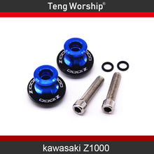 цена на For KAWASAKI Z1000 2012-2016 Motorcycle Accessories Swingarm Spools slider 8mm stand screws with logo