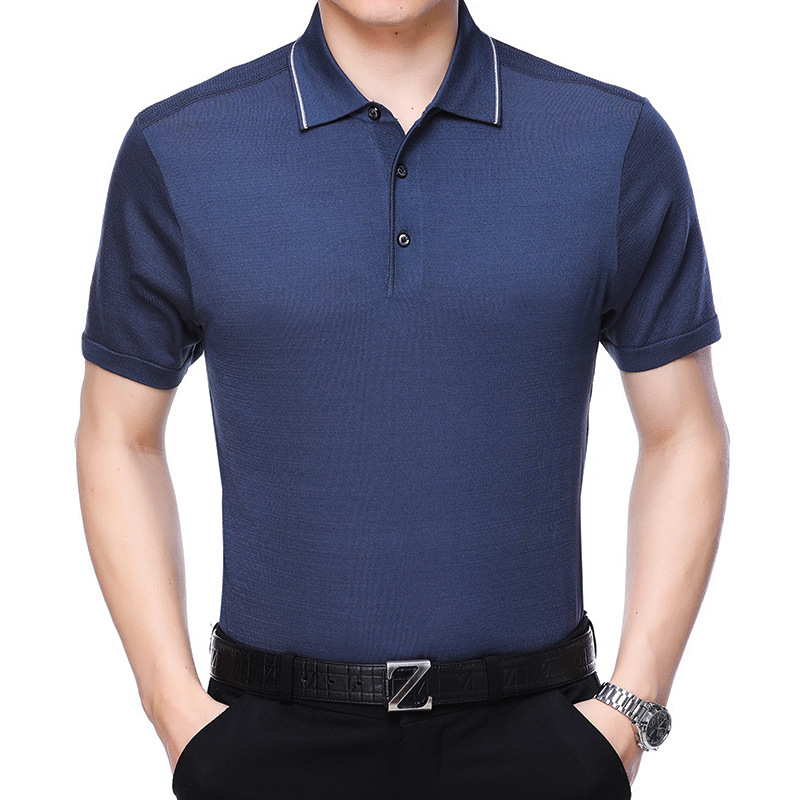 2018 Summer Brand Mens Solid   Polo   Paul Shirt Masculina For Men Fashion Man Casual Turn-down Collar Slim Fit Cotton   Polo   Men