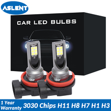 ASLENT 2pcs Fog Light H11 H8 H1 H3 LED Bulbs 3030 chips H7 H4 HB3 HB4 9005 9006 Auto lights Car Driving DRL Lamp 6500k White 12V 2pcs h1 h3 h4 h7 h8 h11 h10 5202 9005 hb3 9006 hb4 led bulbs auto fog lights csp chip daytime running driving light 6500k white