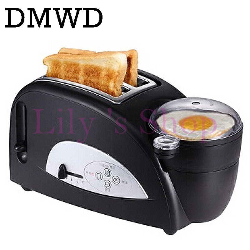 DMWD MINI Household Bread baking maker toaster toast oven Fried Egg boiled eggs Cooker multifunction sandwich Breakfast Machine stainless steel household portable electric toaster breakfast machine automatic bread baking maker fried eggs boiler frying pan