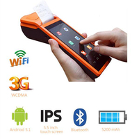 Free Shipping!SM V1 Android 3G pos system 5.5 inch display Mobile Handheld Smart POS Terminal with Printer
