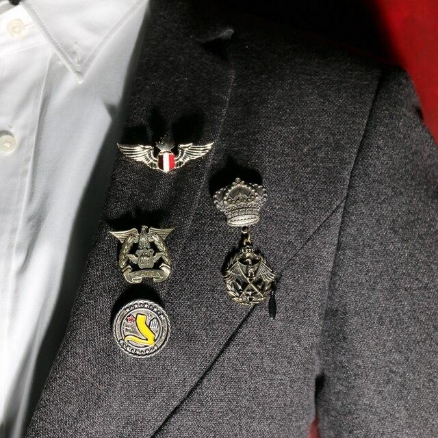 Ретро Армия значок унисекс медаль личность интимные аксессуары деним булавки Винтаж Броши для мужчин Jewelry Vestidos значки булавки S костюмы