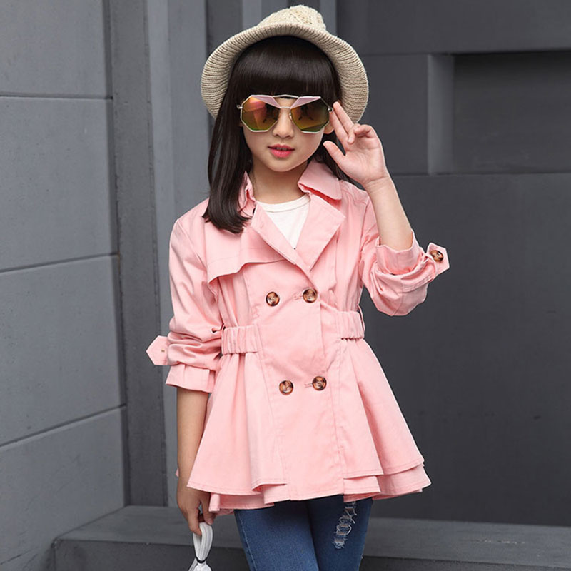 2017 spring teenage girl kids clothes windbreaker jacket outerwear for toddler girl children clothing brand cotton jackets coats ostin брюки для мальчиков