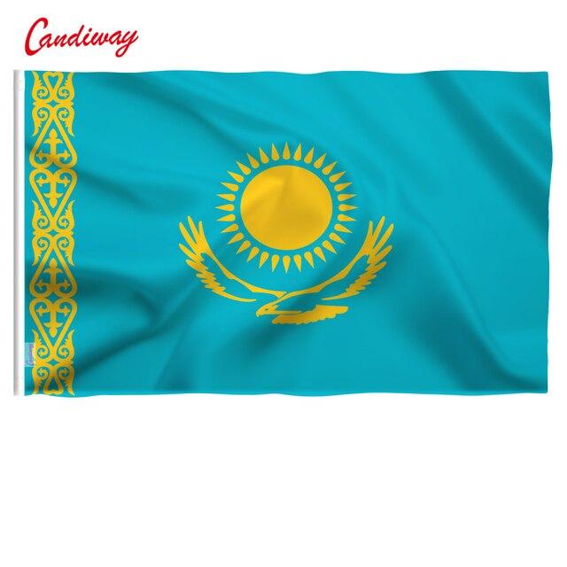 90x150 см флаг Казахстана парад фестиваль баннер украшение для дома с изображением флага украшения офиса NN045
