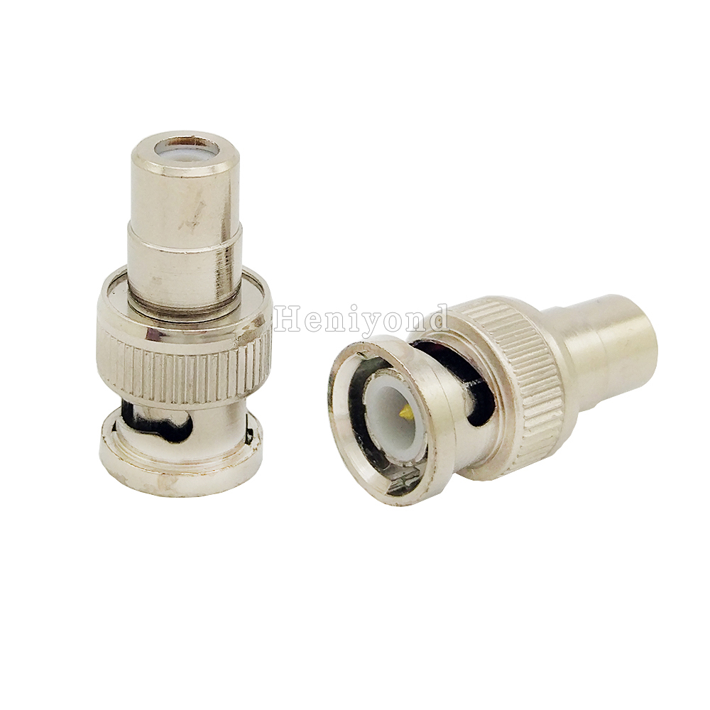 5pcs BNC Male to RCA Female Coax Cable Connector Adapter F/M Coupler for CCTV Camera Accessories 5pcs bnc male to rca female coax cable connector adapter f m coupler for cctv camera accessories