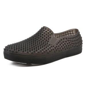 Image 1 - رجالي قباقيب الصنادل منصة النعال الذكور أحذية Sandalias الصيف أحذية الشاطئ صندل صندل hombre Sandali جديد 2020