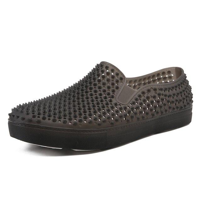 メンズ下駄サンダルプラットフォームスリッパ男性の靴sandalias夏の浜の靴sandalenスリッパsandalet hombre sandali新 2020